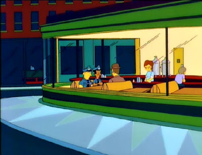 nighthawks hopper simpsons