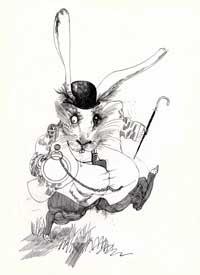 Alice White rabbit Ralph Steadman