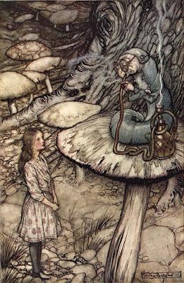Alice in Wonderland, chenille, Arthur Rackham