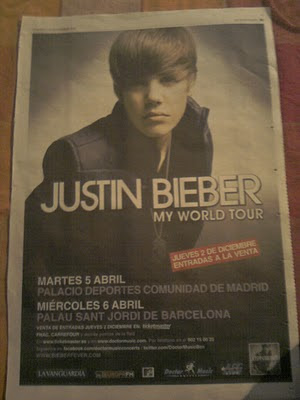 Justin Bieber World Tour on Babyproductos  Conciertos Justin Bieber My World Tour