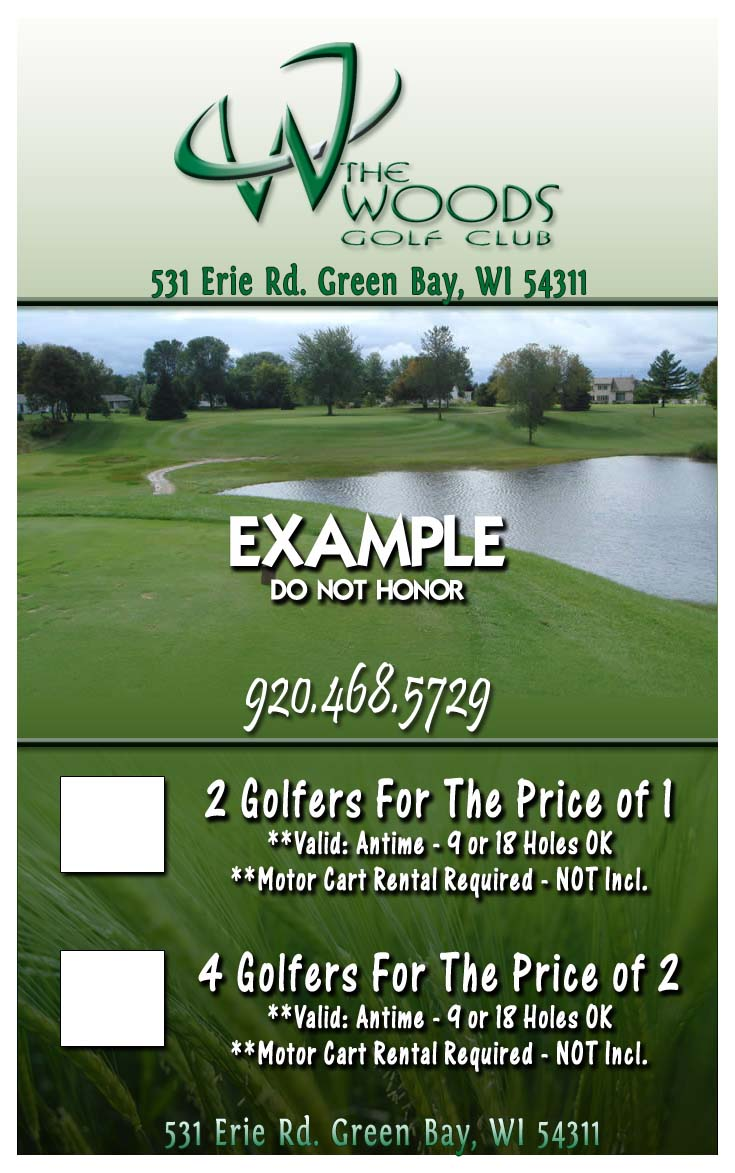Discount golf coupons