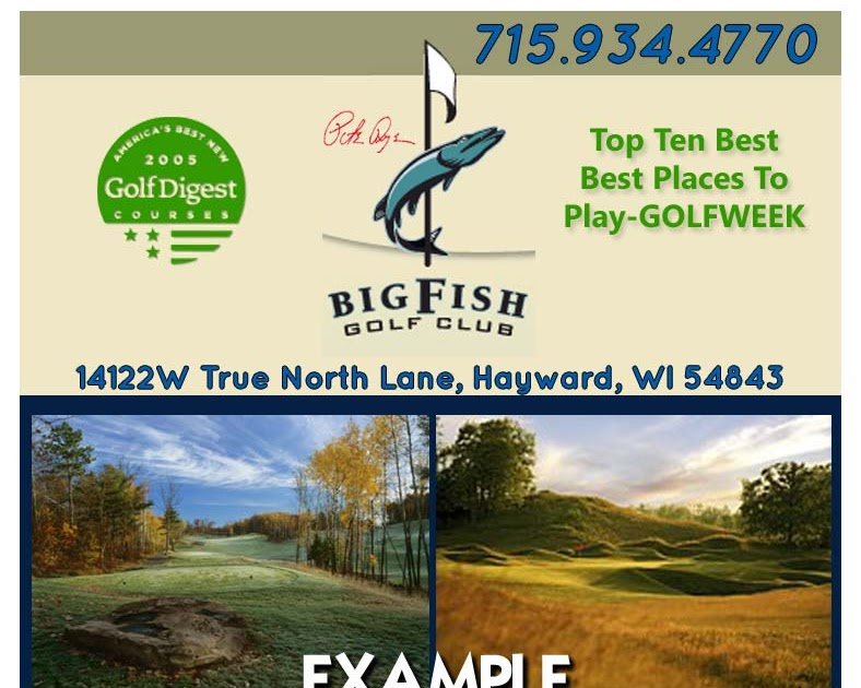 Golf Coupons In Wisconsin Big Fish Golf Club In Hayward