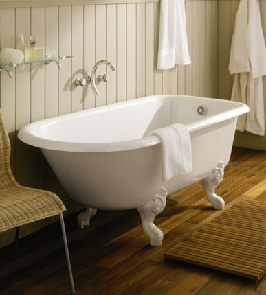M v movement modern vintage bathroom details for Modern claw foot tub