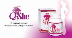 Kualiti seorang wanita Unggul Bermula Dengan Produk Ajaib' Q SHE'