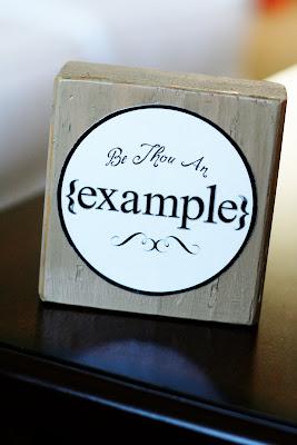 DIY Be Thou An Example Blocks