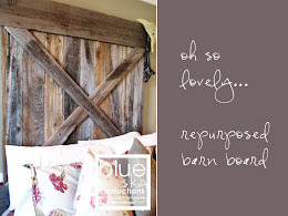 burlap &amp; barn board