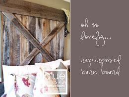 burlap & barn board