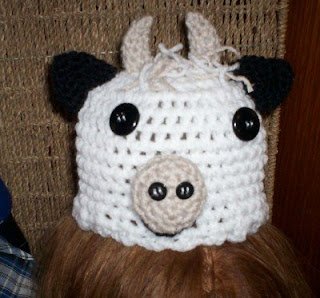Free Crochet Pattern For Cow Hat : COW CROCHET HAT PATTERN Patterns