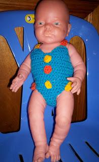 Baby Born Swim Suit - Cat's Rockin Crochet'