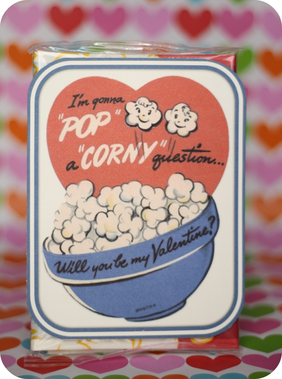 This is a graphic of Lucrative Popcorn Valentine Printable