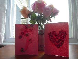 quilling tutorial: homemade valentine's day cards