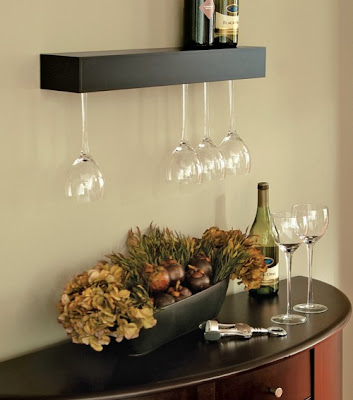 The Pinot wine shelf from Nexxt by Linea holds six wine glasses. furniture, wine, bar accessories, Canadian design giftandhometoday.blogspot.com