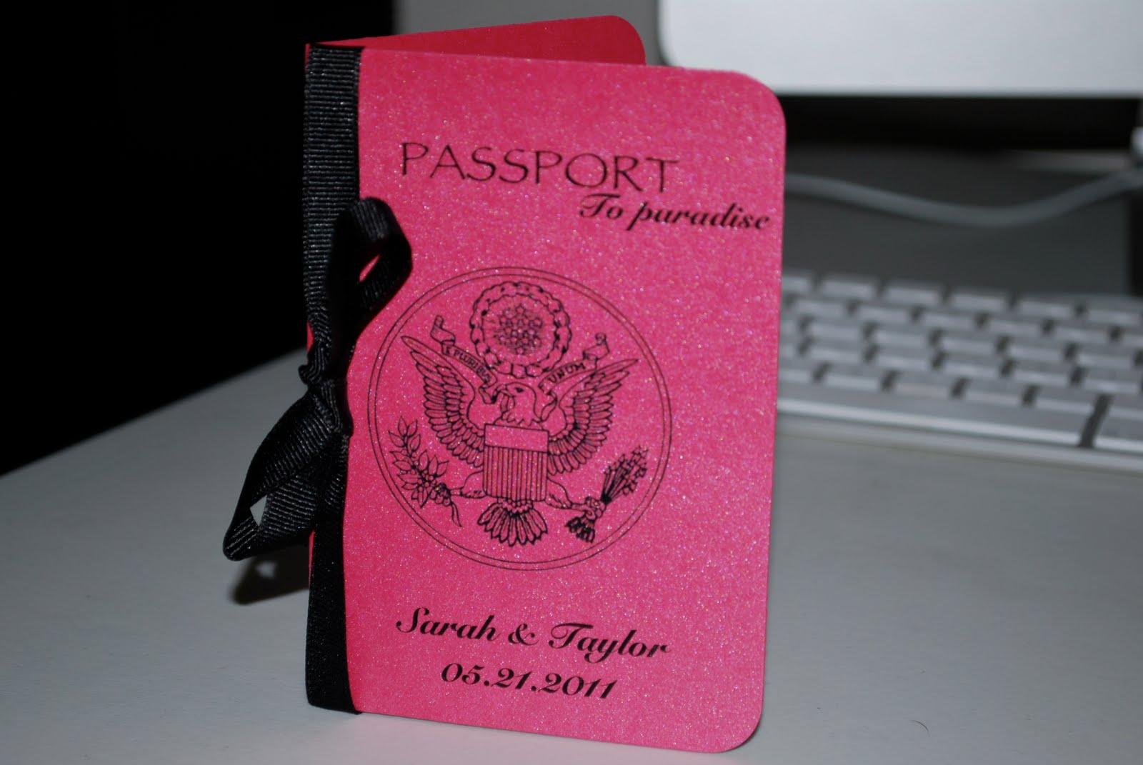 Duvy 39 S Designs Passport Wedding Invitations