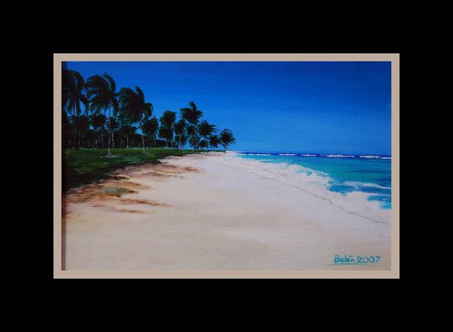 Arena blanca, agua turqueza en el Caribe