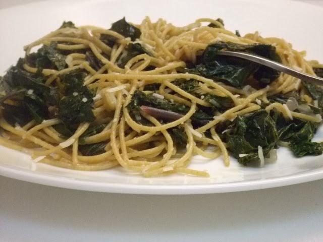 sweet climate: Spaghetti with Braised Kale