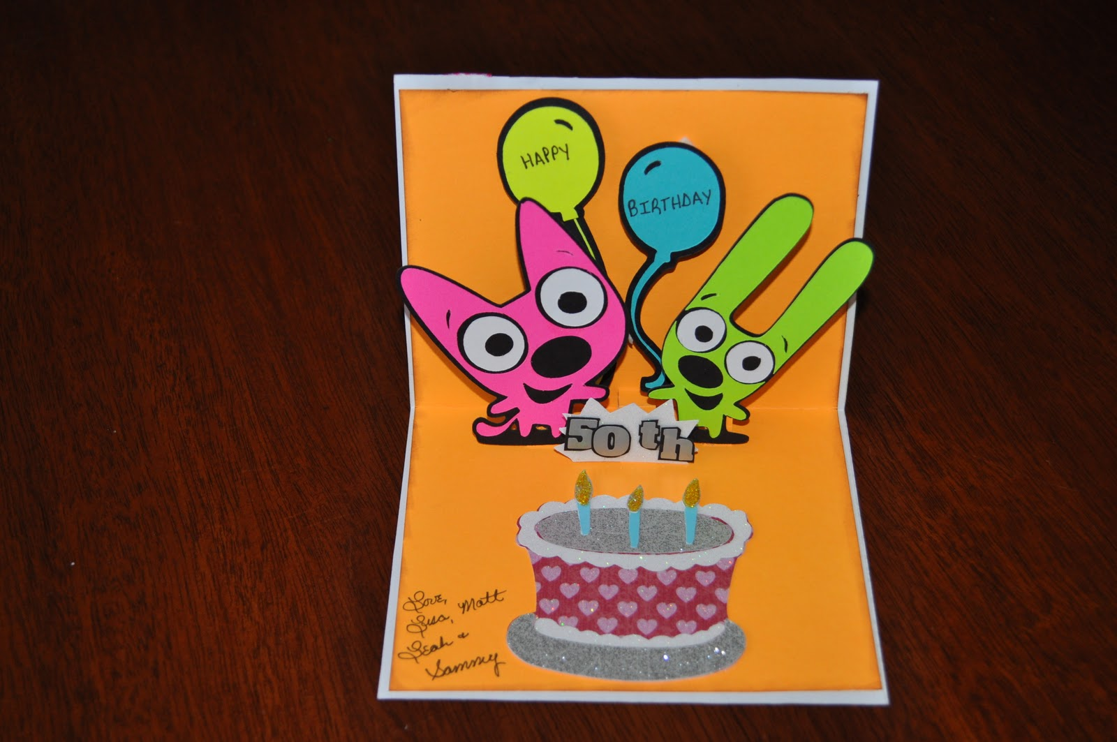 My four hearts hoops yoyo birthday card hoops yoyo birthday card bookmarktalkfo Images
