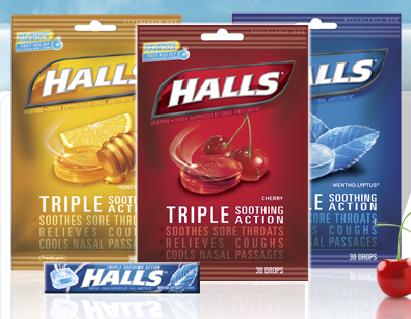 Halls Cough Drops. of using Halls Cough Drops
