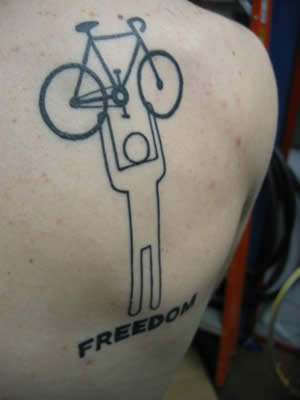 Categories: Bike Tattoos I'm a tremendous tattoo fan. someone with a bike related tattoo i usually feel like i understand them