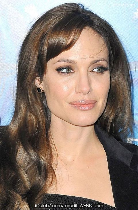 Angelina Jolie Bangs Haircut. Celebrity Bangs Hairstyles