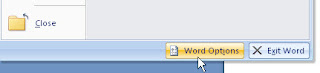 word options button
