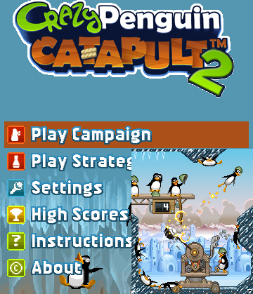 Crazy penguin catapult 2 touch screen game nokia lg samsung free