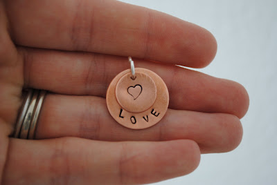 copper heart jewelry, heart pendant