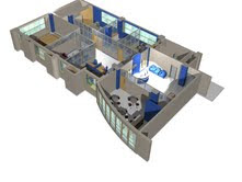 3 dimension image of office partition
