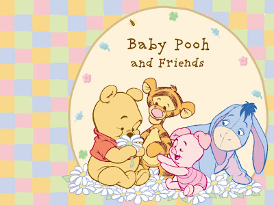 wallpaper baby pooh. Baby Pooh and Friends playing