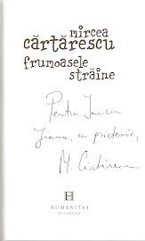 """Autograful lui Mircea Cartarescu pe cartea """"Frumoasele straine"""""""
