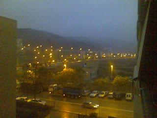menuda niebla había esta mañana