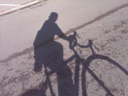 sombra bicicleta ernesto