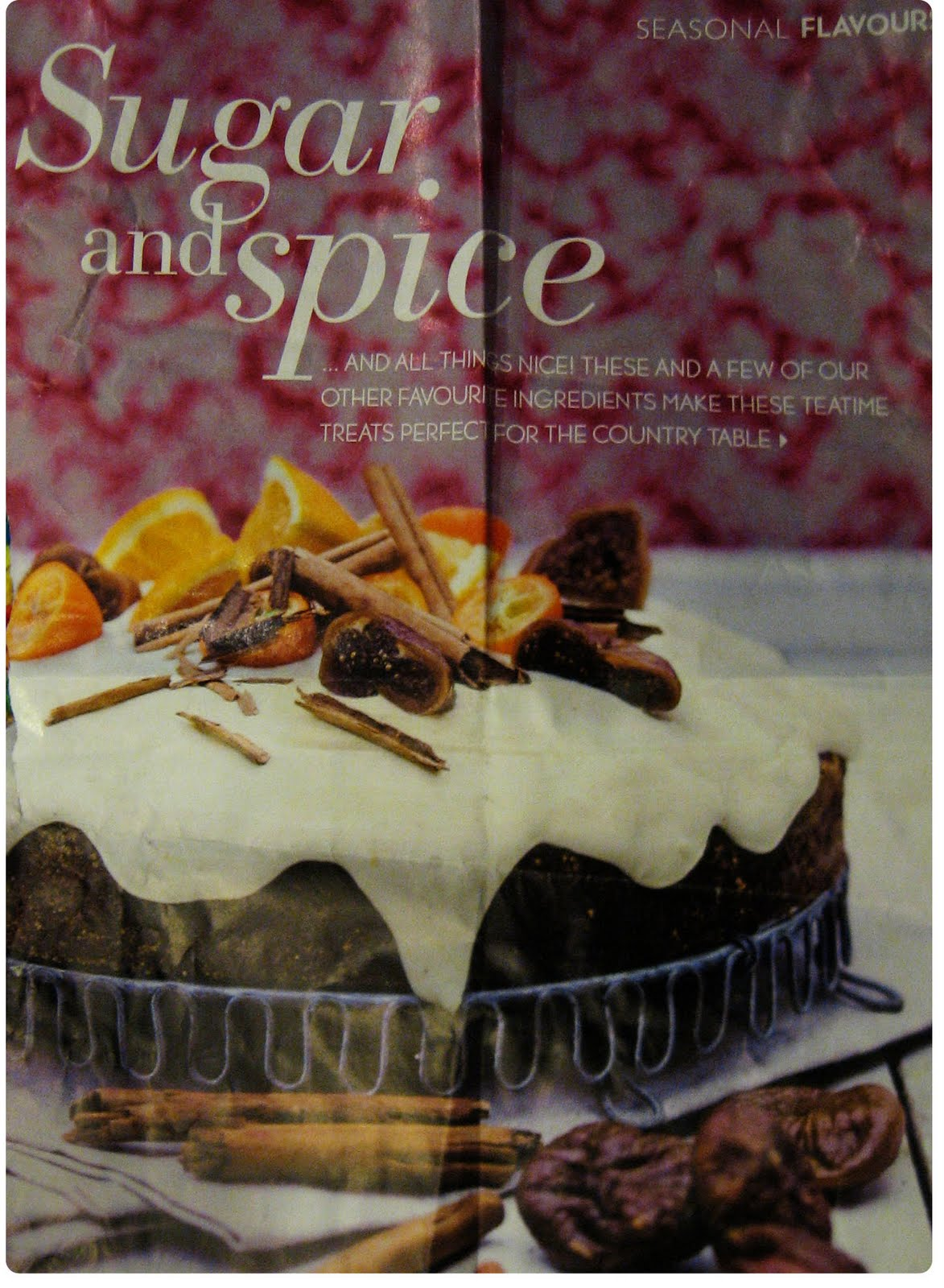 circles of rain grey day as promised the recipe for the fig and cinnamon cake it is from december s issue of country homes and interiors it is really lovely cake the figs are