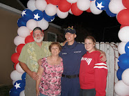 Corey home from United States Coast Guard boot camp!!