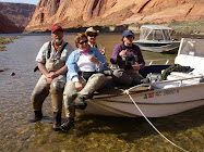 A great day fishing at Lee's Ferry, AZ with Kaarin, Cathlene and our guide Mike 4-08