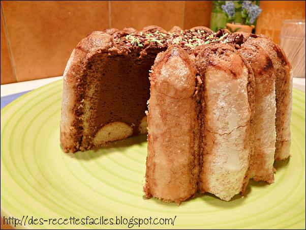 Des recettes faciles charlotte au chocolat - Charlotte au chocolat facile ...