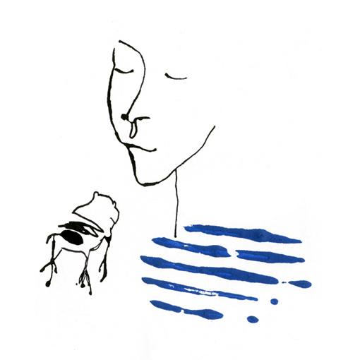 bacio ranocchio illustrazione francesca ballarini