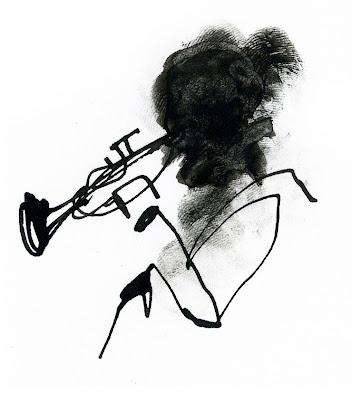 illustrazione trombettista francesca ballarini