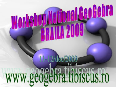 National GeoGebra Workshop 2009