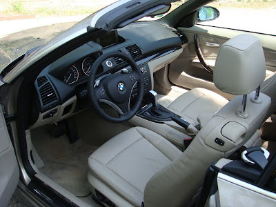 bmw 125i Cabrio interior picture