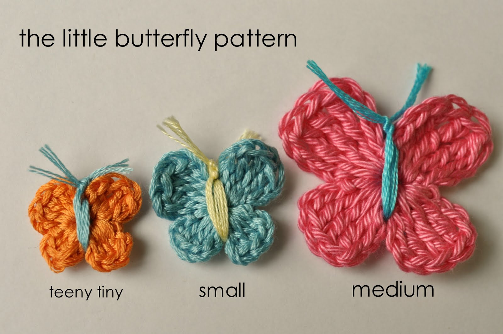 How To Crochet A : how to crochet a butterfly Little Birdie Secrets