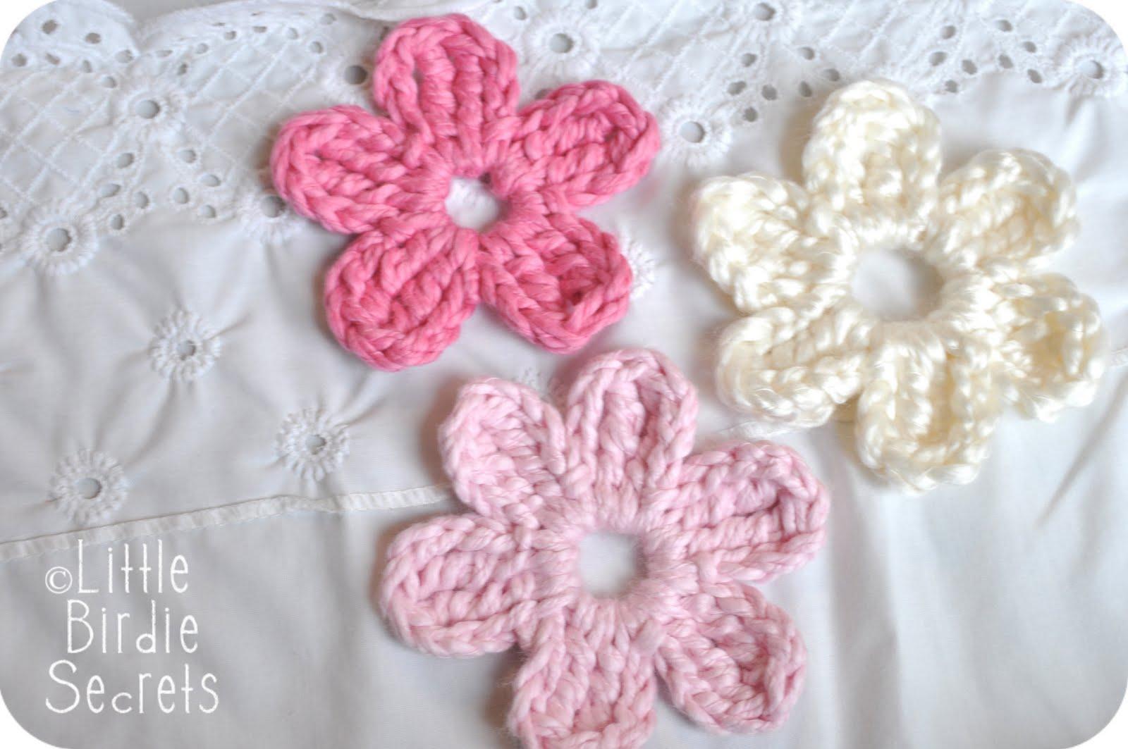 Free easy crochet flower patterns patterns kid flower knit bankloansurffo Image collections