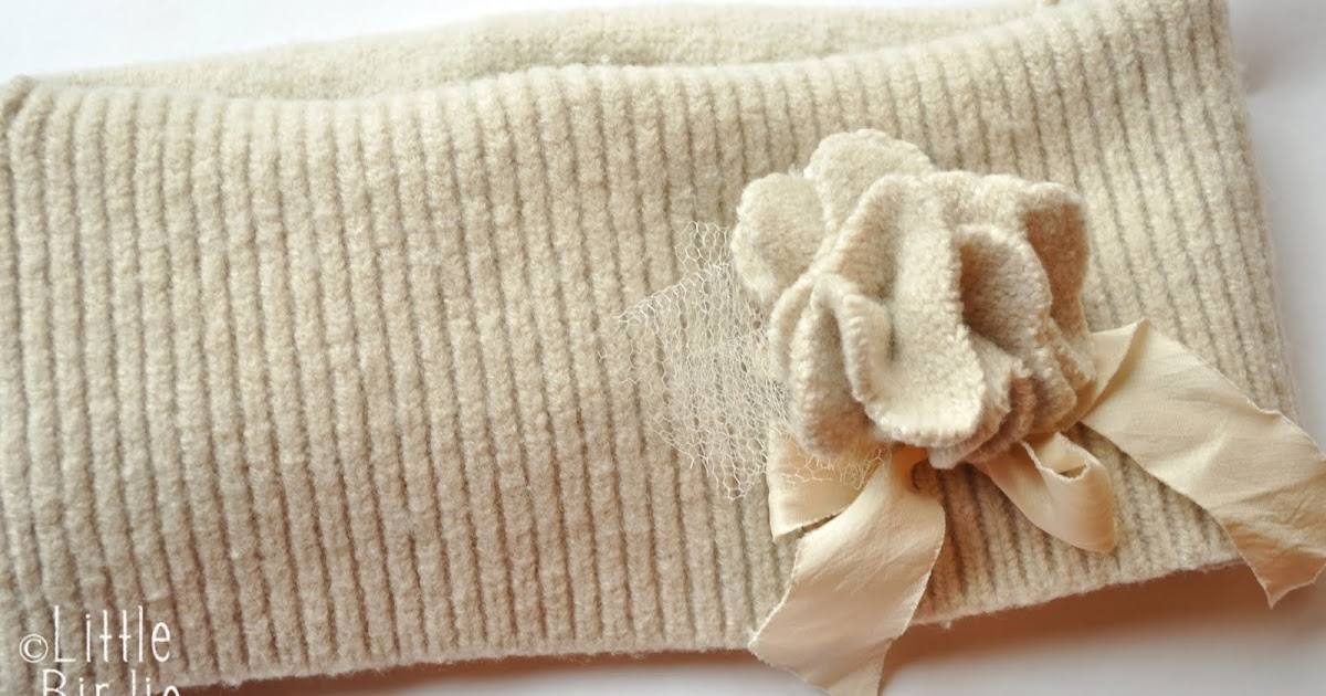 felted sweater neck warmer and flower tutorial Little ...