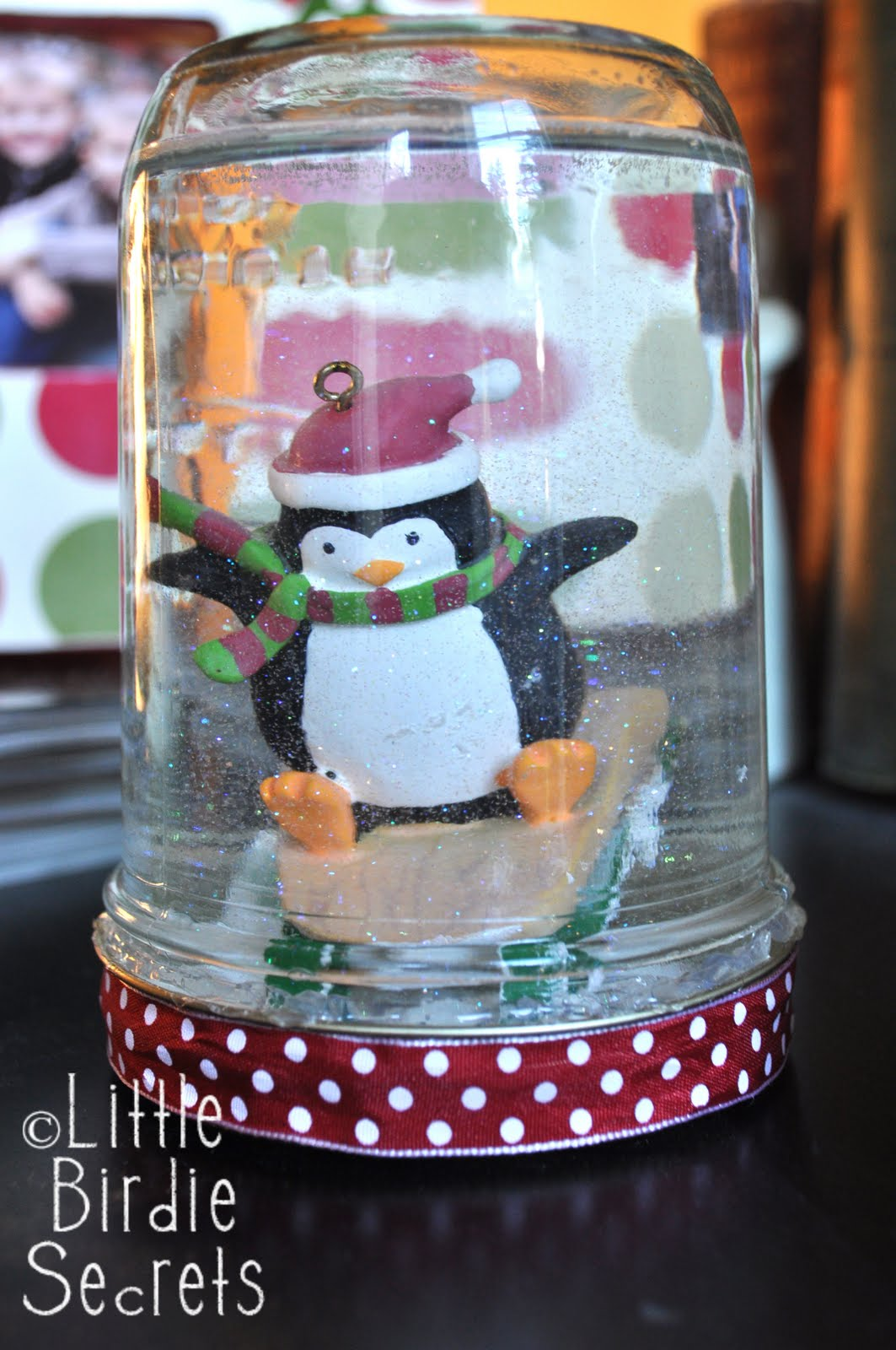 How to make snow globe little birdie secrets for Snow globe craft for kids