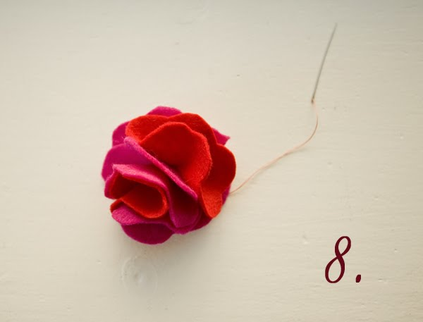 ruffled felt rose headband {tutorial}