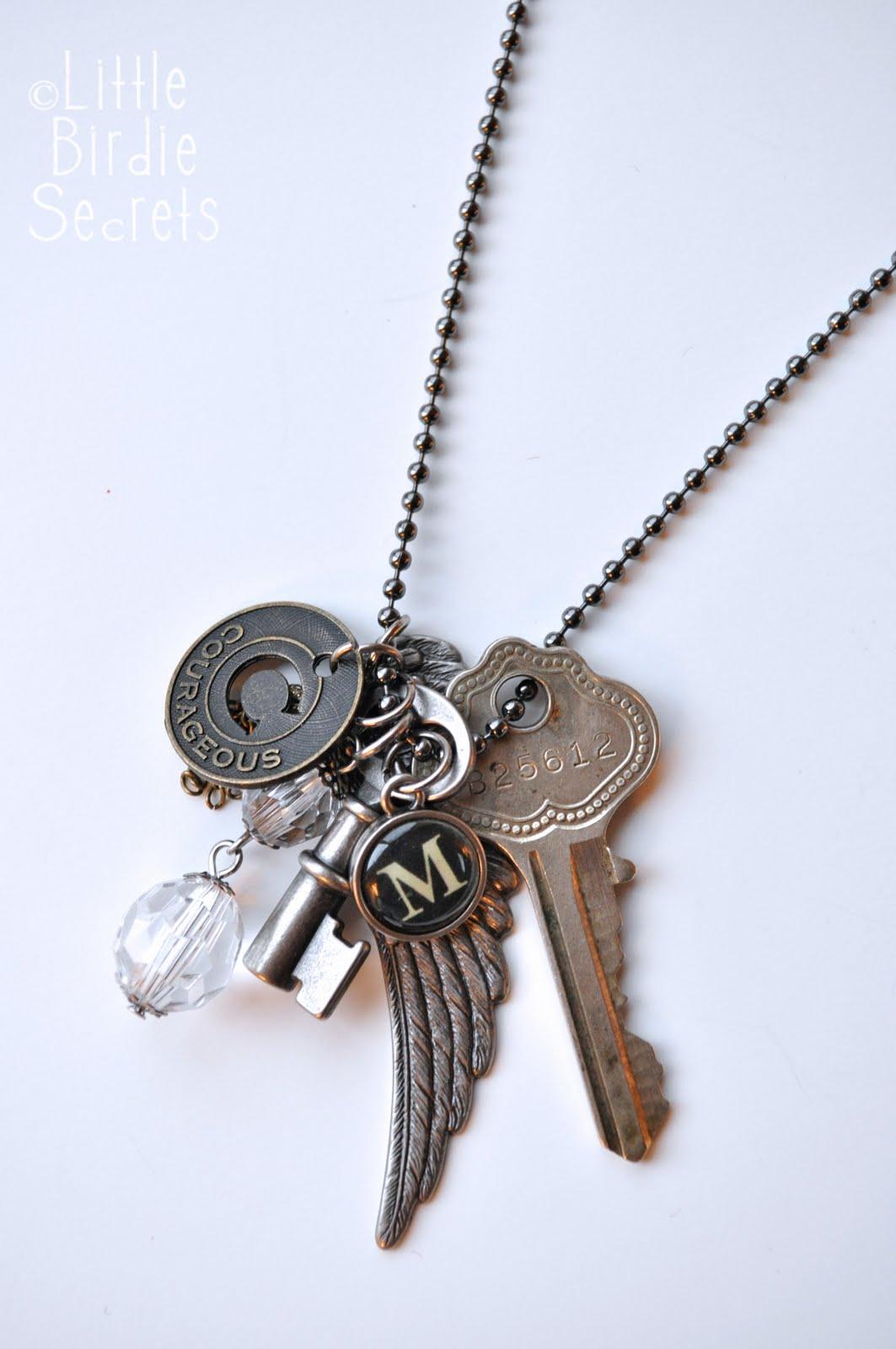 key to my necklace tutorial birdie secrets