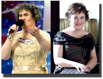 Susan Boyle new look- Susan Boyle makeover