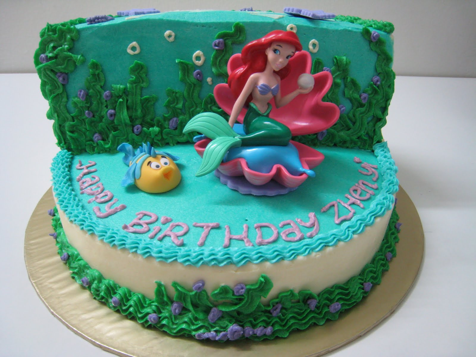Just celebrate cakes the little mermaid ariel for Ariel cake decoration