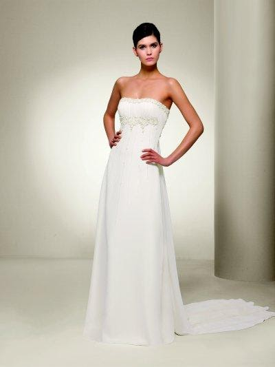 Wedding simple strapless wedding dress for Simple strapless wedding dress