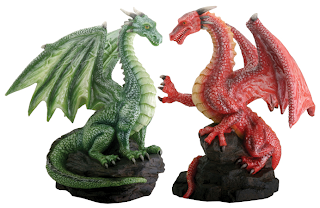 Dragon Fantasy Wedding Cake Toppers