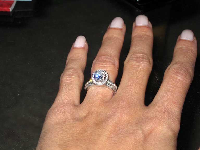88 Engagement Ring Then Wedding Ring
